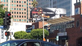 Matt Barkley billboard in Westwood, CA