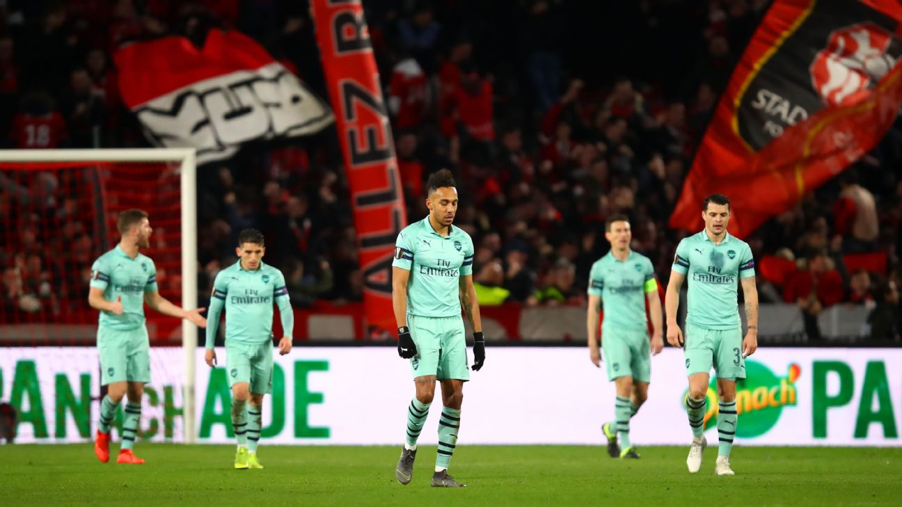 Stade Rennes vs. Arsenal - Football Match Report - March 7, 2019