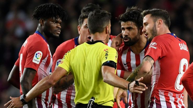 Diego Costa red card for derogatory comments about referee