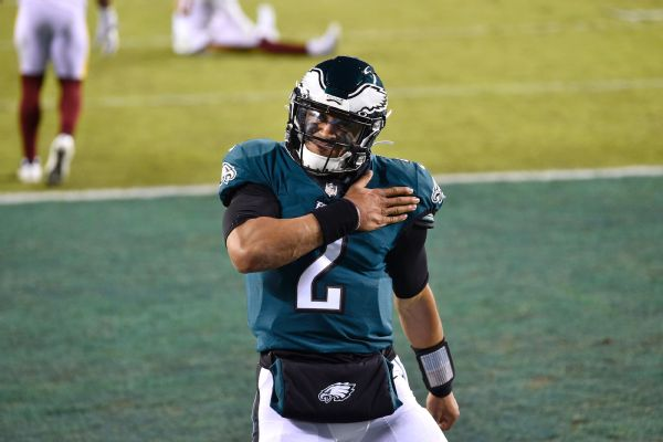 Eagles QB Hurts says he's 'not above' competition