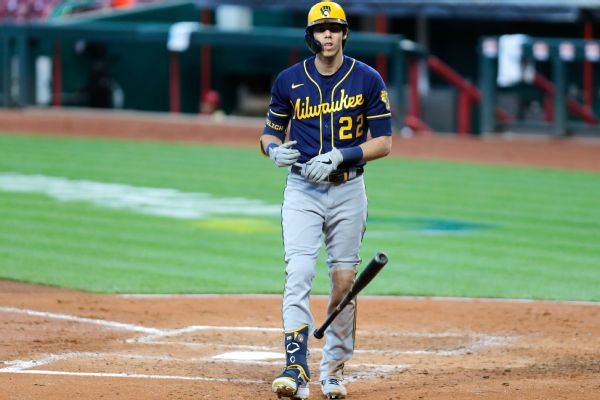Yelich heads back to Milwaukee for MRI on back