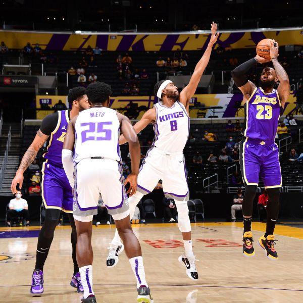 LeBron (ankle) returns after 20 games vs. Kings
