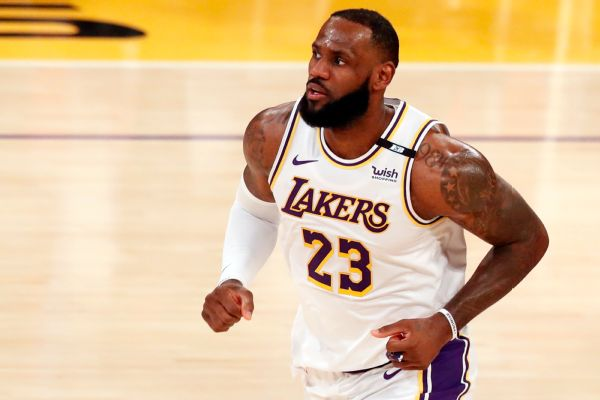 As Lakers' season unravels, LeBron rips play-in