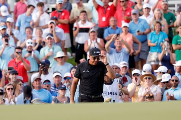 Mickelson holds lead at PGA with Koepka lurking