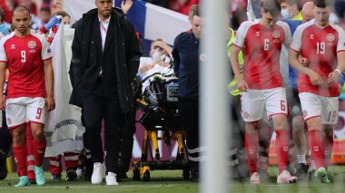 Eriksen stable after receiving CPR on pitch