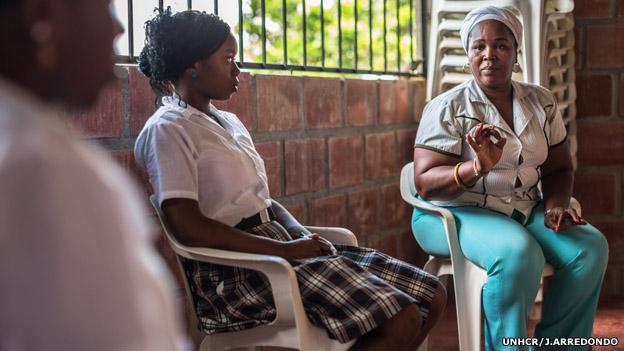 Gloria Amparo Arboleda, del colectivo de mujeres Mariposas de Alas Nuevas de Buenaventura. Foto: UNHCR/J.Arredondo