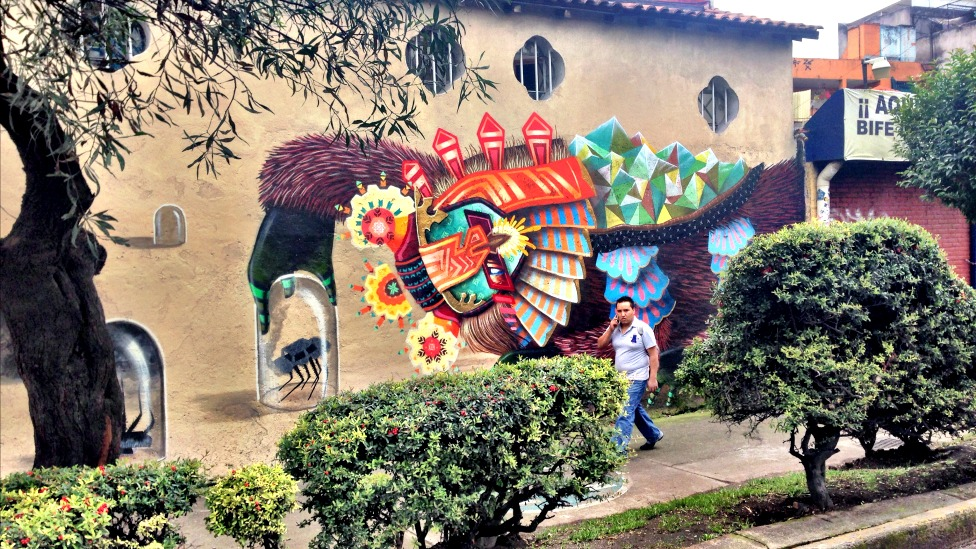 Mural de arte chilango