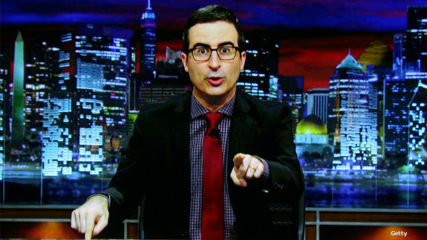 John Oliver, conductor del show Last Week Tonight de HBO. Foto: Getty