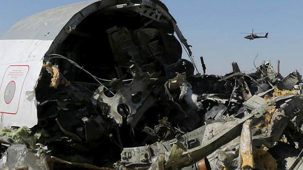 El fuselaje del avión de Metrojet caído en Egipto