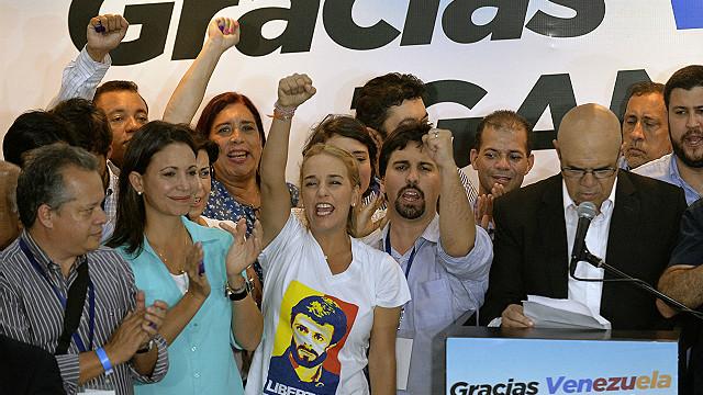 Miembros de la oposición venezolana