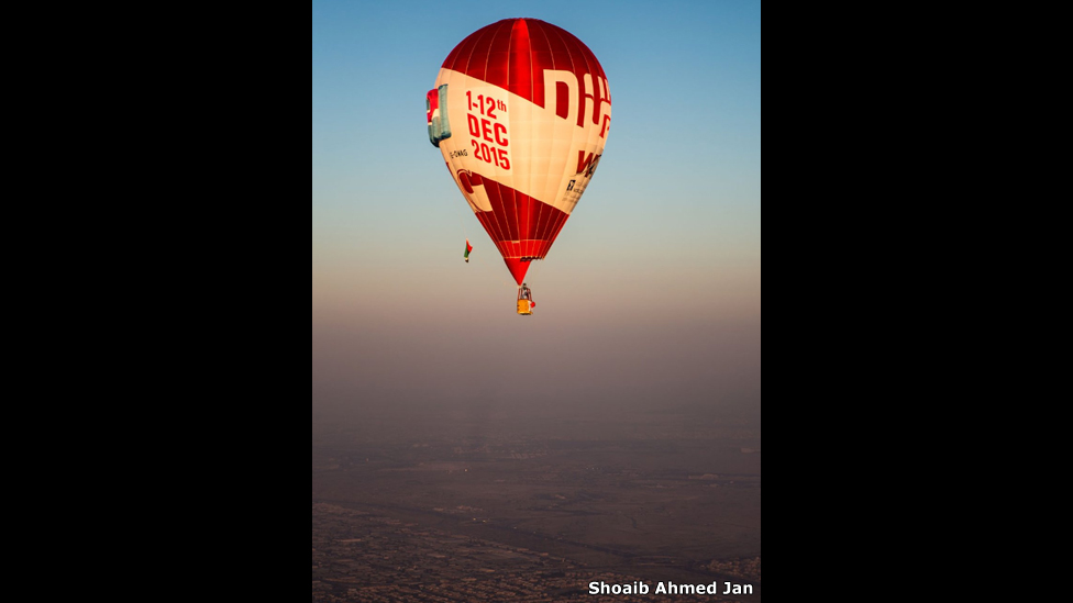 Globo de aire sobre Dubái