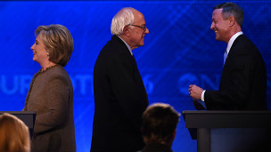Hillary Clinton, Bernie Sanders y Martin O´Malley