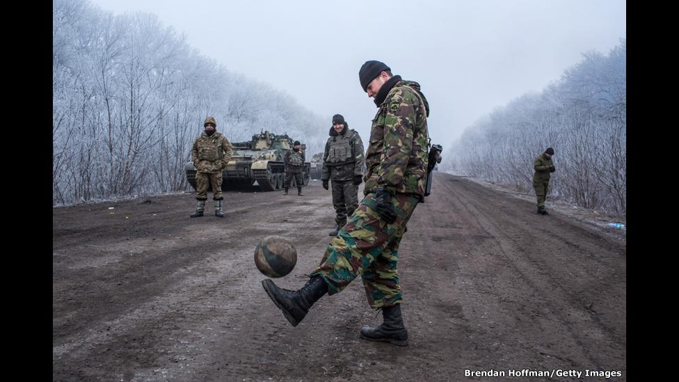 Frente en el este de Ucrania