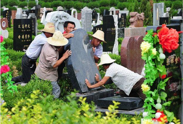 Cementerio en China