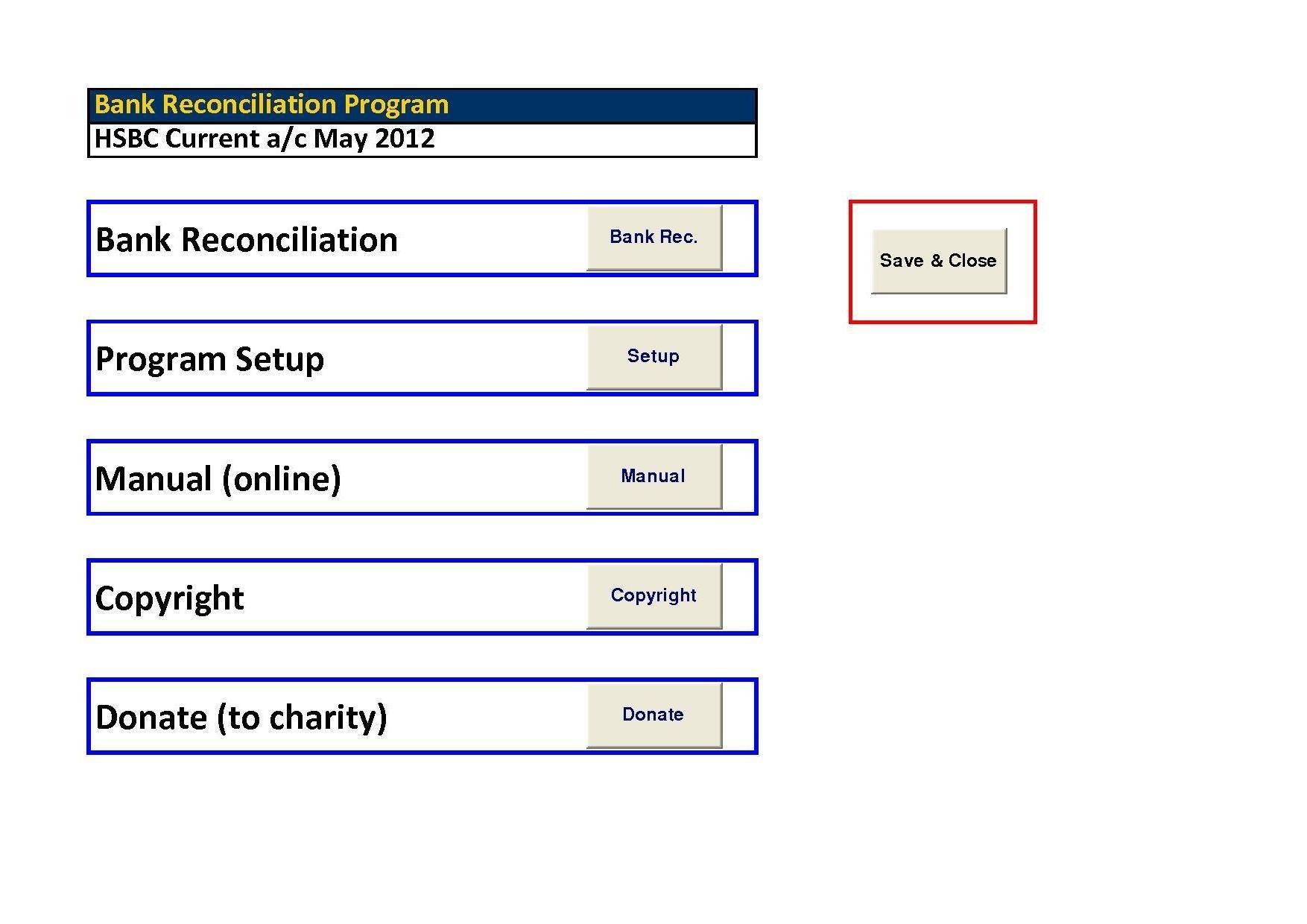 Bank Reconciliation Pro Excel Download
