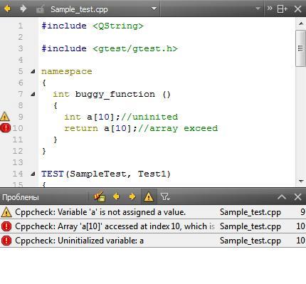 Qt Creator Cppcheck integration plugin download ...