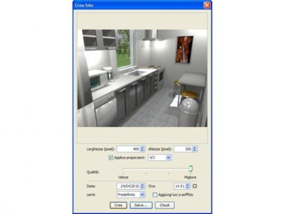 Sweet Home 3D download   SourceForge net Sweet Home 3D rendering in Italian Windows XP