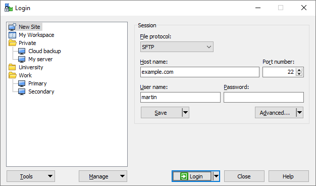 Download the program winscp