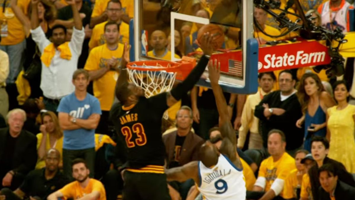 Image result for lebron james the block