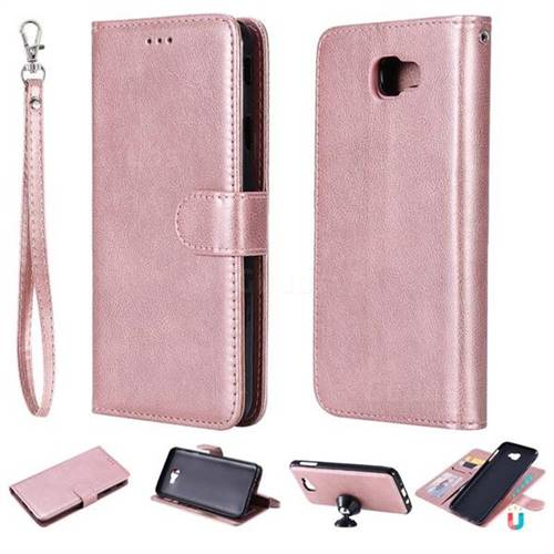 Retro Greek Detachable Magnetic Pu Leather Wallet Phone Case For
