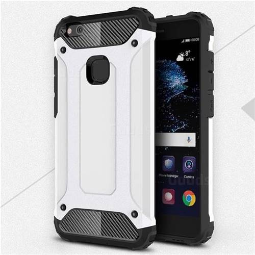 King Kong Armor Premium Shockproof Dual Layer Rugged Hard Cover For Huawei P10 Lite P10lite White