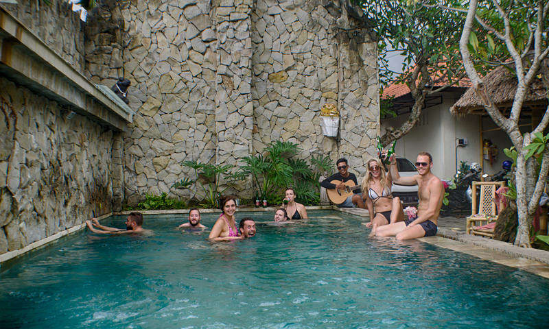 image of people at lagas hostel in bali
