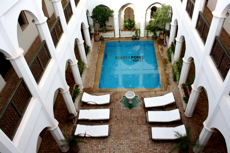 Patio with a swimming pool in Equity Point Marrakech