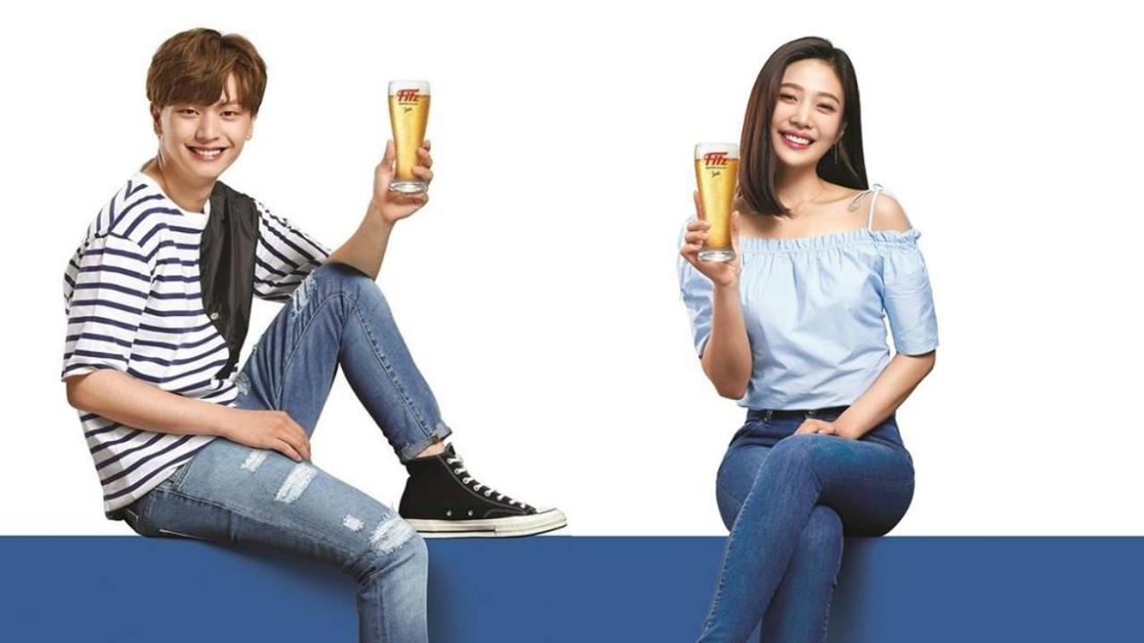 星宿夫婦再度合體!陸星材&JOY共同代言啤酒廣告延續緣分 - KSD 韓星網 (明星)