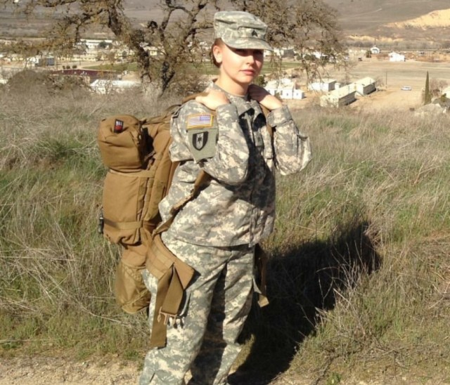 Army combat medic Denise Berry at Fort Hunter Liggett in 2011. Berry worked in three different prisons in Iraq, on one ambulance team, and in an emergency room. She joined the army in 2007.