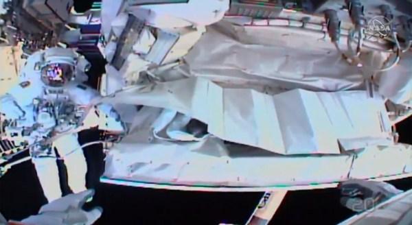 Space Walk Underway For Final Fix Of International Space ...