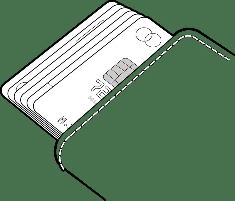 Il Cardprotector può contenere sei carte, di cui una in rilievo.