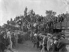TIL in 1896 two locomotives were deliberately crashed together as a promotional event for the railroad in Crush, Texas. Over 40K people attended. Engineers had assured the organizers that it would be safe, but when both boilers exploded on impact two spectators were killed and several more injured.
