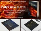 Autographed Copy of Burning Rose + notebook & sticker {ww} {02/14}