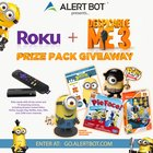 "Win the AlertBot Roku + ""Despicable Me"" Prizes Giveaway! {US} (07/26/2017)"