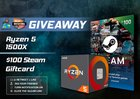 Win an AMD Ryzen 1500X CPU and $100 Steam Gift Card {??} (09/12/2018)