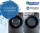 Enter to WIN a BRAND NEW SET of Washer and Dryers from West Coast Appliances in Victoria! {US} (06/15/19) $2,499