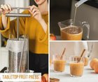 Enter for a chance to win Pleasant Hill Grain Tabletop Fruit Press for making apple cider at home! (10/26/2018) {US}