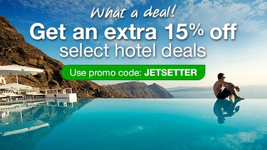 Save 15% on select hotels: JETSETTER