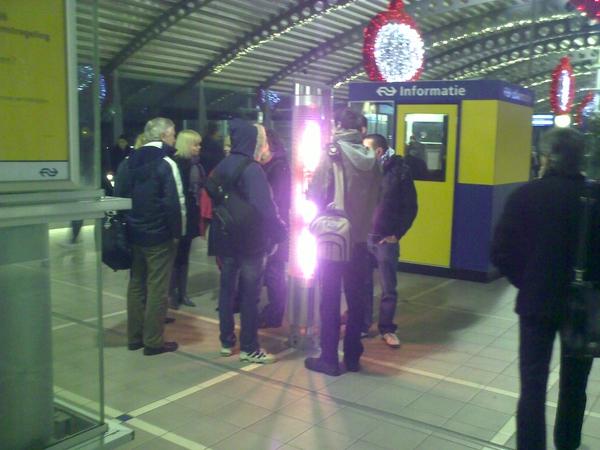 heaters nu ook op station Amersfoort. Geen overbodige luxe
