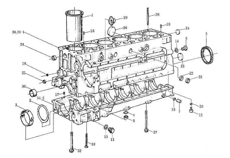 Weichai Engine Parts Main Bearing Bolt Thrust