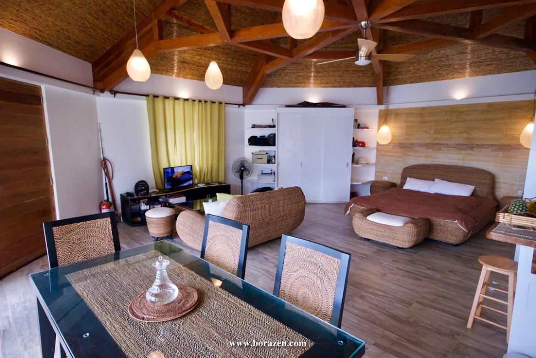 Indoor view of the villa, loft style