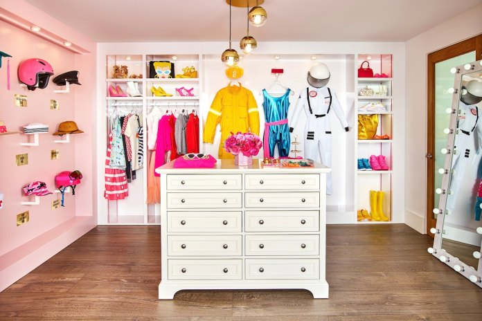 Play dress-up in the walk-in closet.
