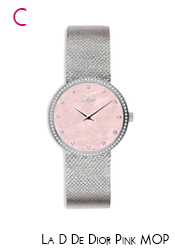 Dior Pink MOP & Diamond Satine Watch