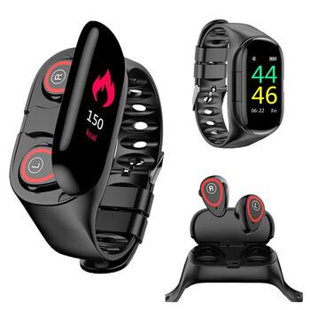 Фитнес-браслет с Bluetooth наушниками - LEMFO M1