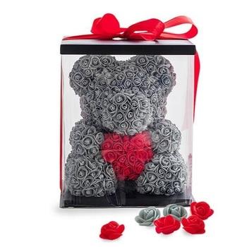 Оригинальные мишки из роз в подарочной упаковке
