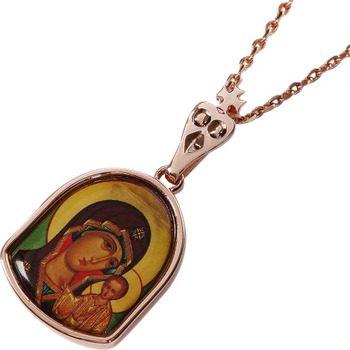 Купить нательную икону Казанской Божьей Матери
