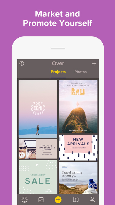 Over— Edit Photos, Add Text & Captions to Pictures Screenshot