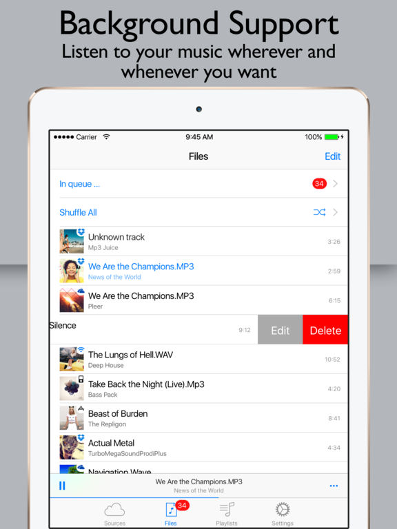 Red Music Player & MP3 Streamer for Cloud Drive Screenshot