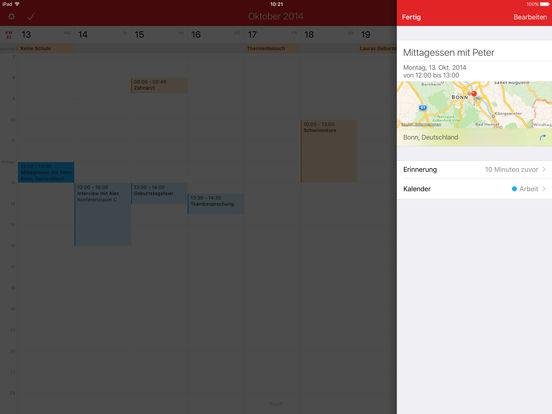 Fantastical 2 für iPad - Kalender und Erinnerungen Screenshot