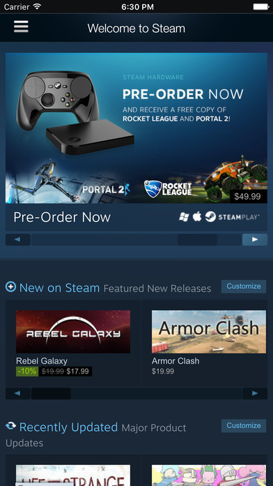 Steam Mobile Screenshot